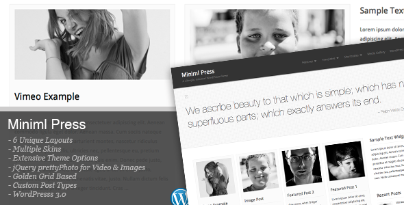 Miniml Press WordPress Theme