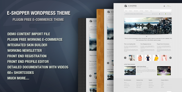 E-Shopper E-commerce WordPress Theme