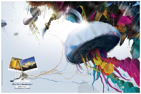 Getty Images : Underwater - Creative Print Advertisements