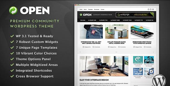 Open - Community WordPress Theme Download