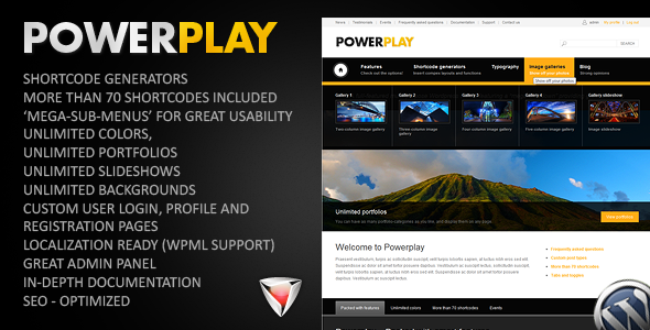Powerplay WordPress Theme