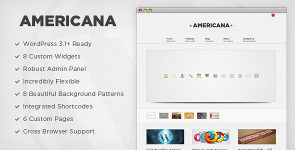 Americana Corporate WordPress Theme