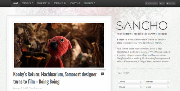 Sancho WP Theme - ThemeForest Item for Sale