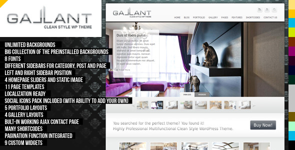 Gallant WordPress Theme