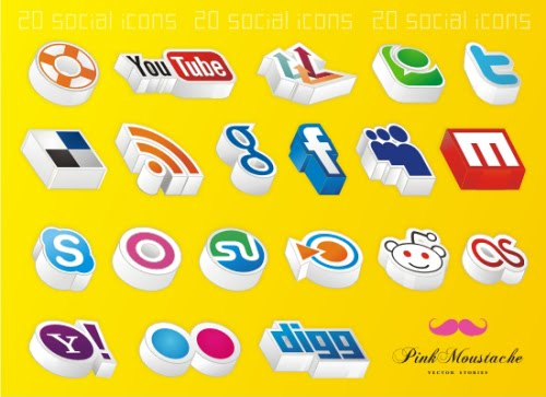 Fresh and Unique High Quality Social Network Icon Sets