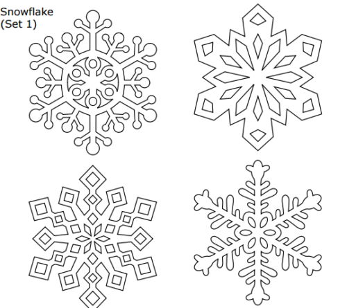 It is a picture of Printable Snowflake Stencils throughout tracing